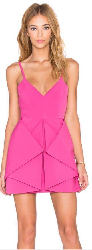 hot pink AQAQ dress