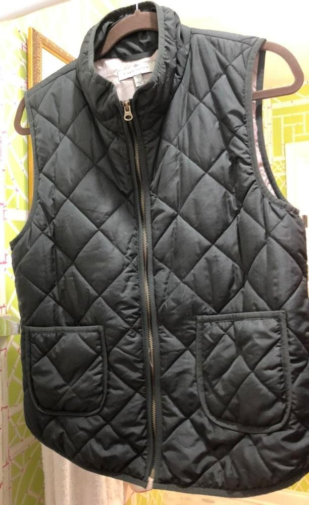 41 Hawthorn army green zip up puff vest