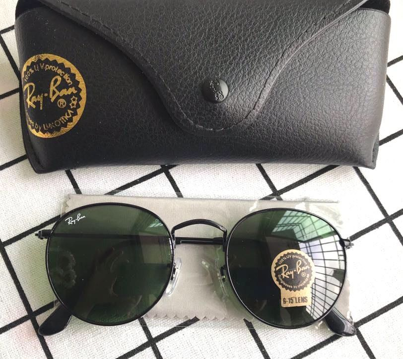 Ray-Ban Ray Ban 3447 Dark Green Lenses Sunglasses