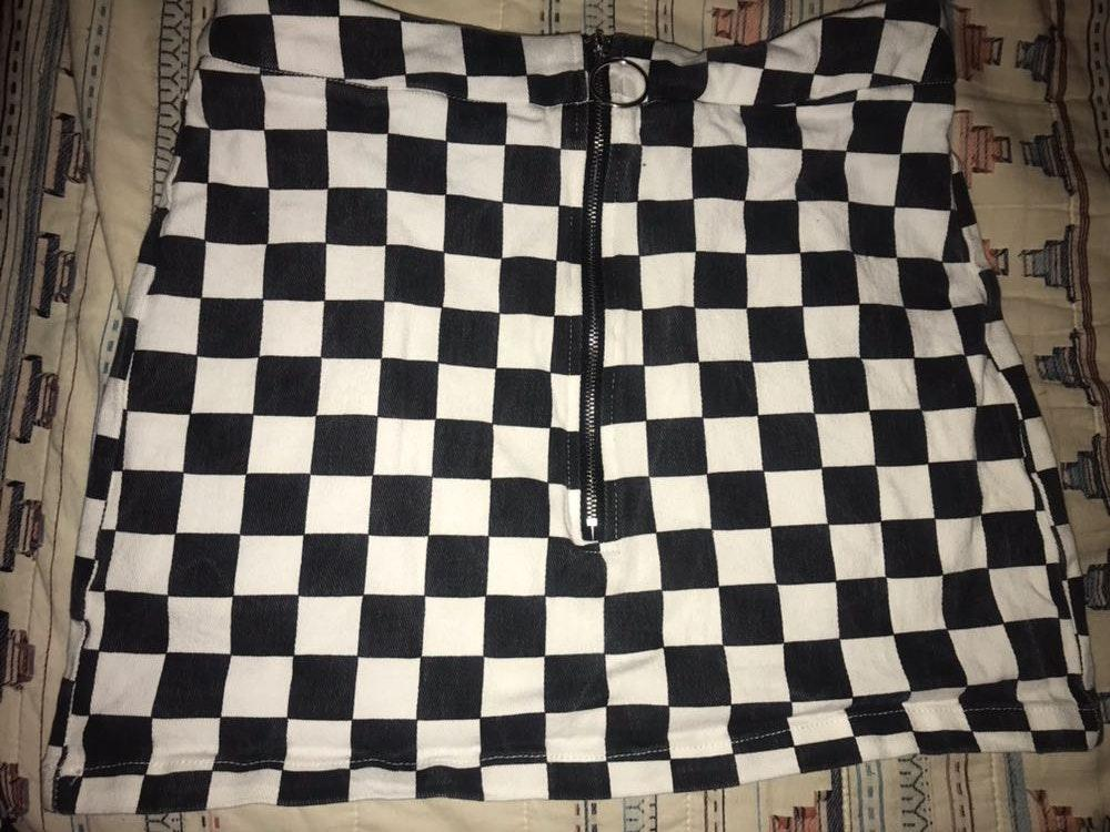 SheIn Checkered Skirt