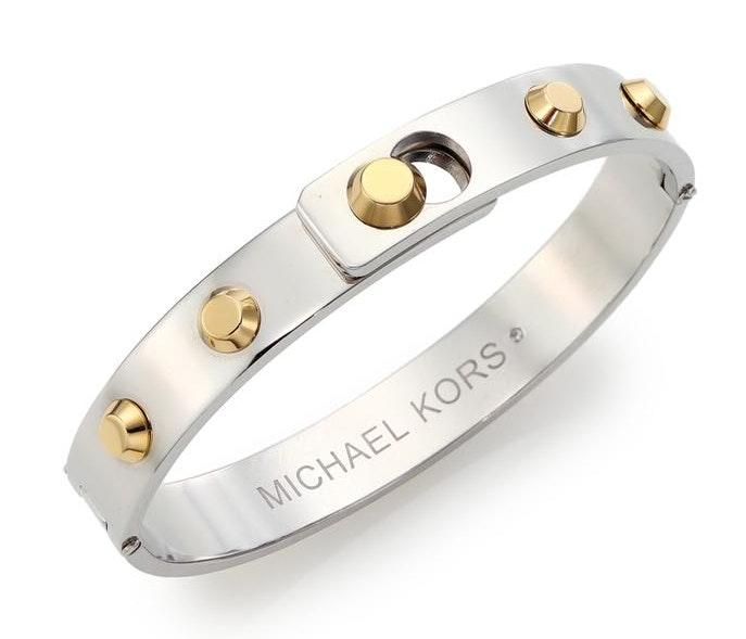 Michael Kors Women's Metallic Cityscape Astor Studded Bangle Bracelet/Two-Tone
