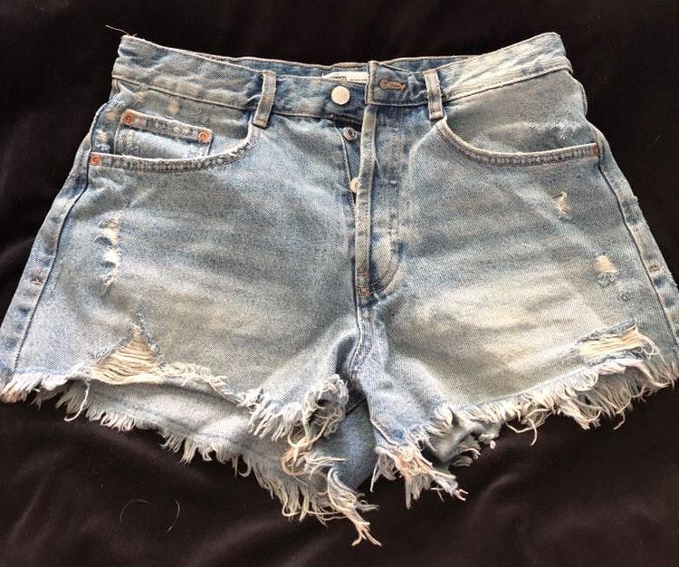 ZARA Boyfriend High Waisted Denim Shorts