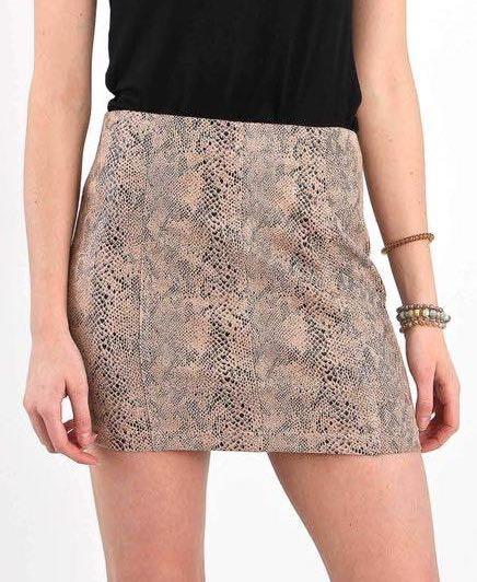 Wild Honey NWT Snake Print Skirt