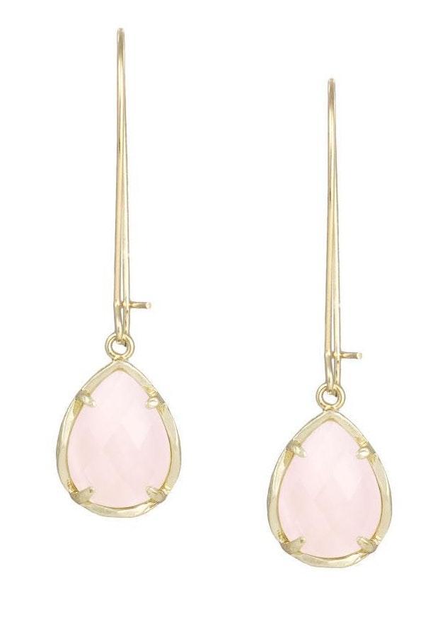 Kendra Scott Dee Earrings In Rose Quartz