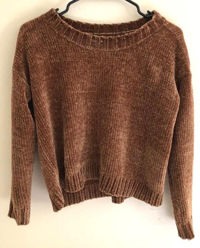 Aerie Soft Gold Cropped Sweater