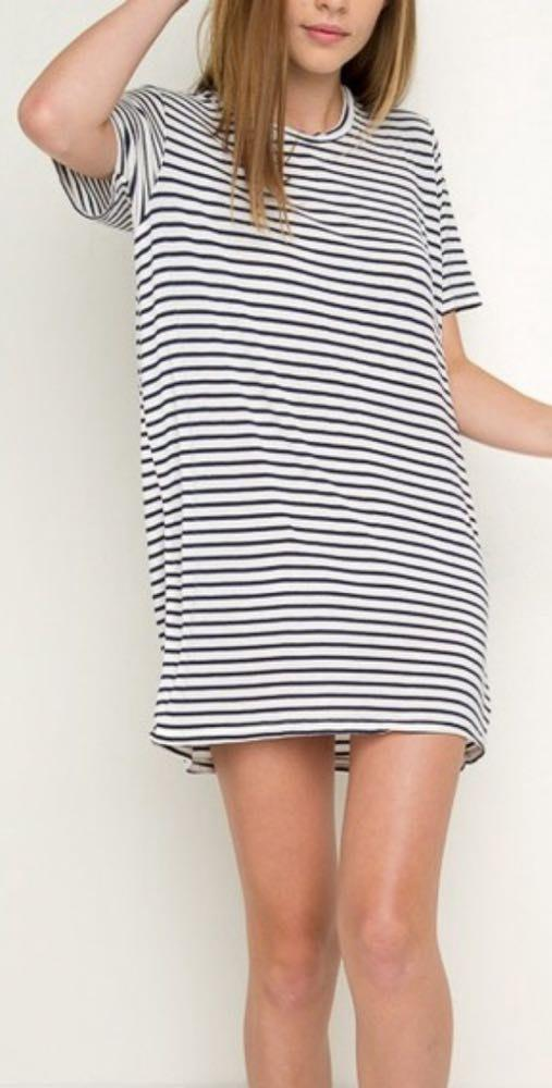 f588196901d75 We're the buy/sell app for cute clothes. Say to being bored of your  clothes. Home Brandy Melville Stripes T-shirt Dress