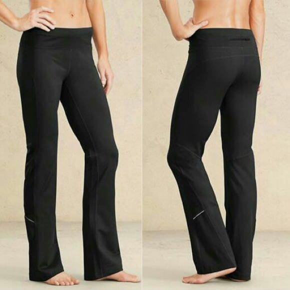 Athleta Black Straight Leg Yoga Pant