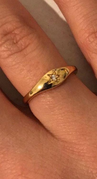 Five and Two Gold Plated  Star Ring