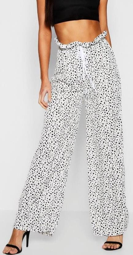 Boohoo Spotted Paperbag Pants