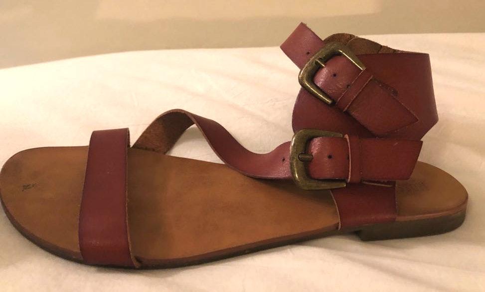 Mossimo Supply Co Dark Tan Gladiator Sandals