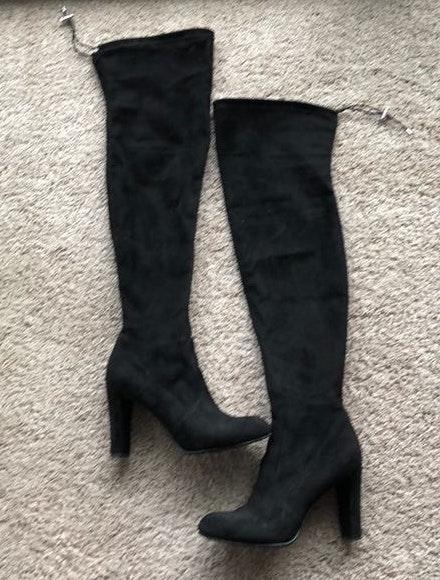 Sam Edelman Black Thigh High Boots