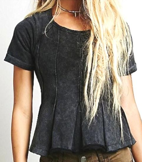 Free People Cute Black Top
