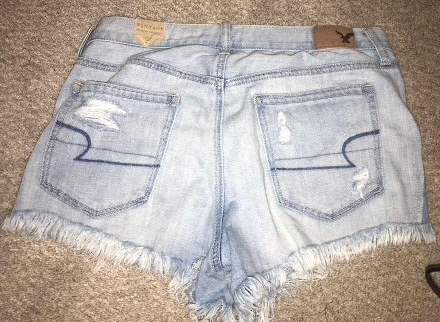 American Eagle Outfitters Light Denim American Eagle Jean Shorts