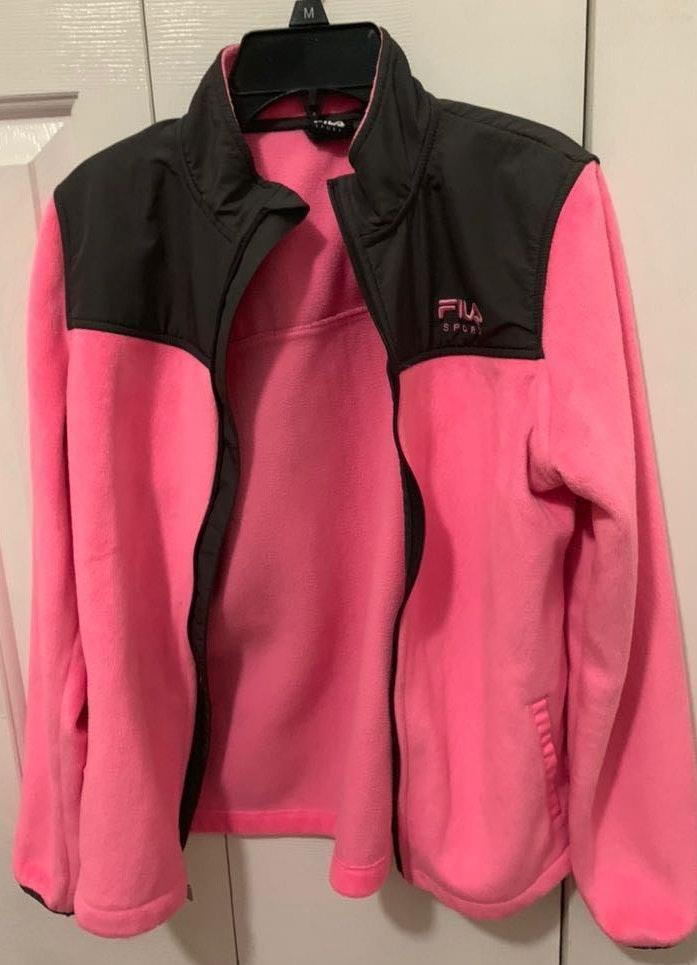 FILA hot pink fuzzy jacket
