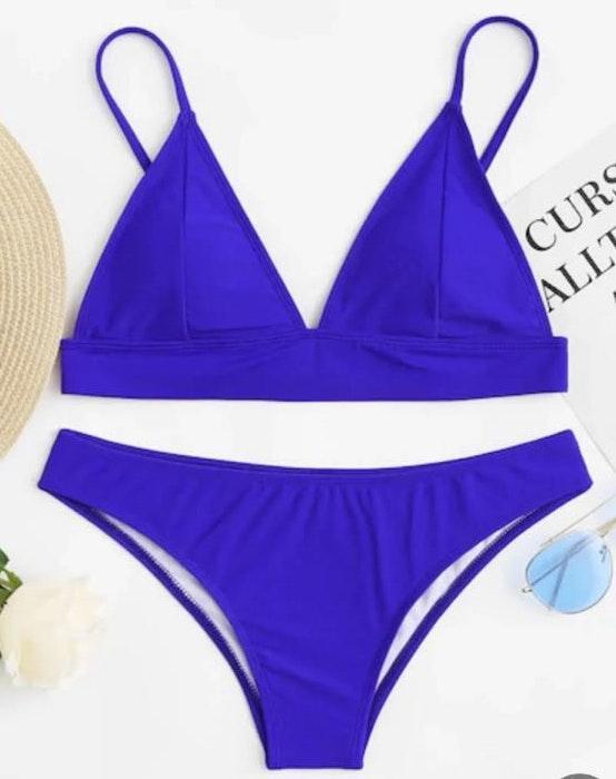 SheIn Blue Triangle Bikini