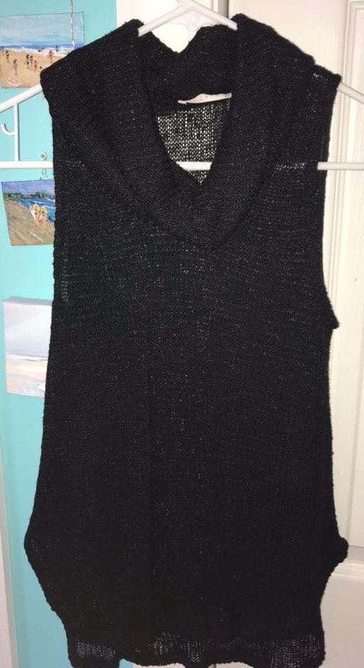 34eeb46d61506 Lush Clothing Black Sleeveless Turtleneck