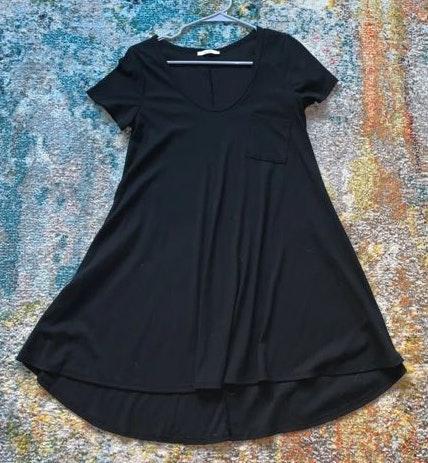 Acemi Black T-shirt Dress