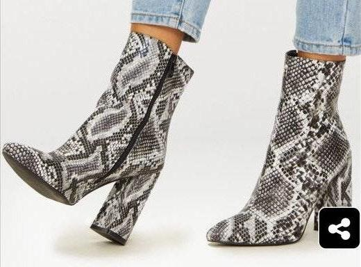Pretty Little Thing Snakeskin Booties