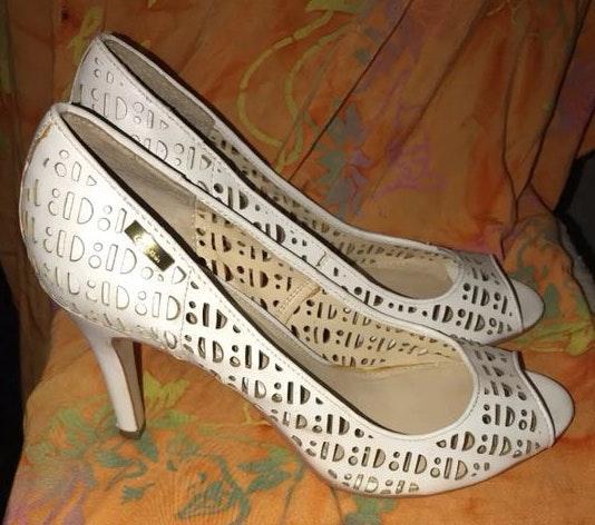 Calvin Klein Cutout Peep Toe Heels