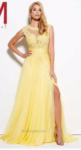 Mac Duggal Yellow MacDuggal Prom dress Size 6