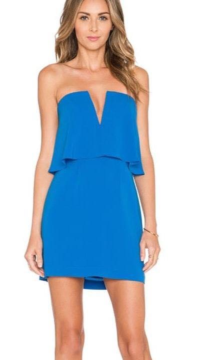 BCBGMAXAZRIA Kate Dress In Blue