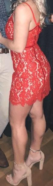 Tobi Red Lace Dress