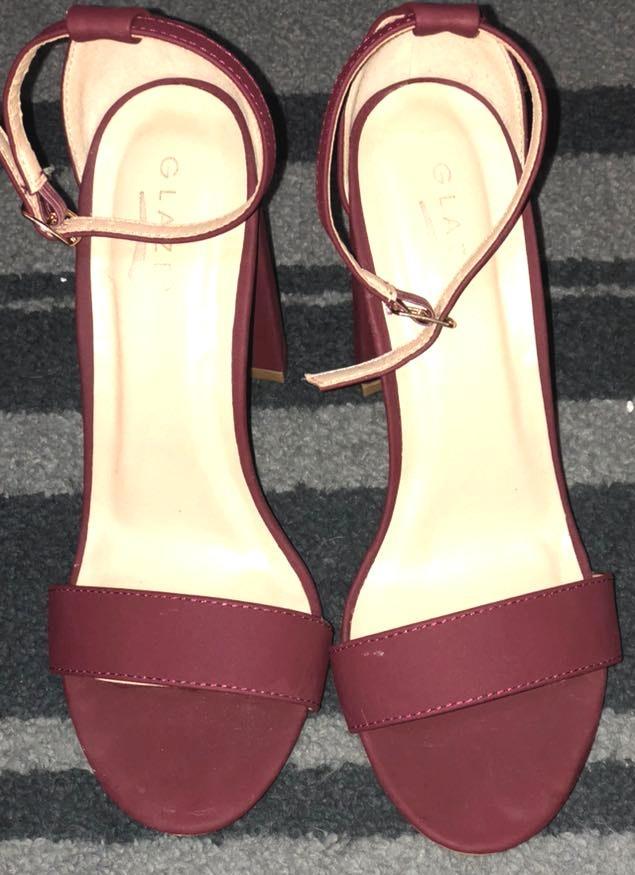 7ba0d1b58 Glaze Maroon/ Wine Colored Heels | Curtsy