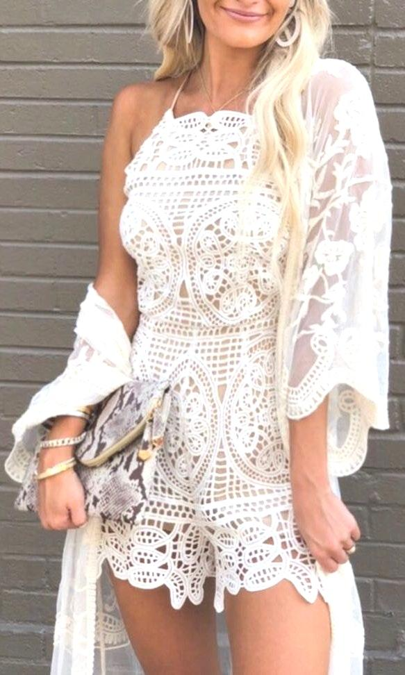 DO+BE White Lace Romper