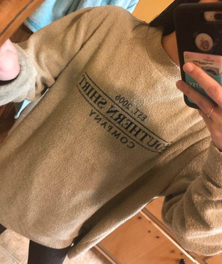 southern shirt co light green pullover