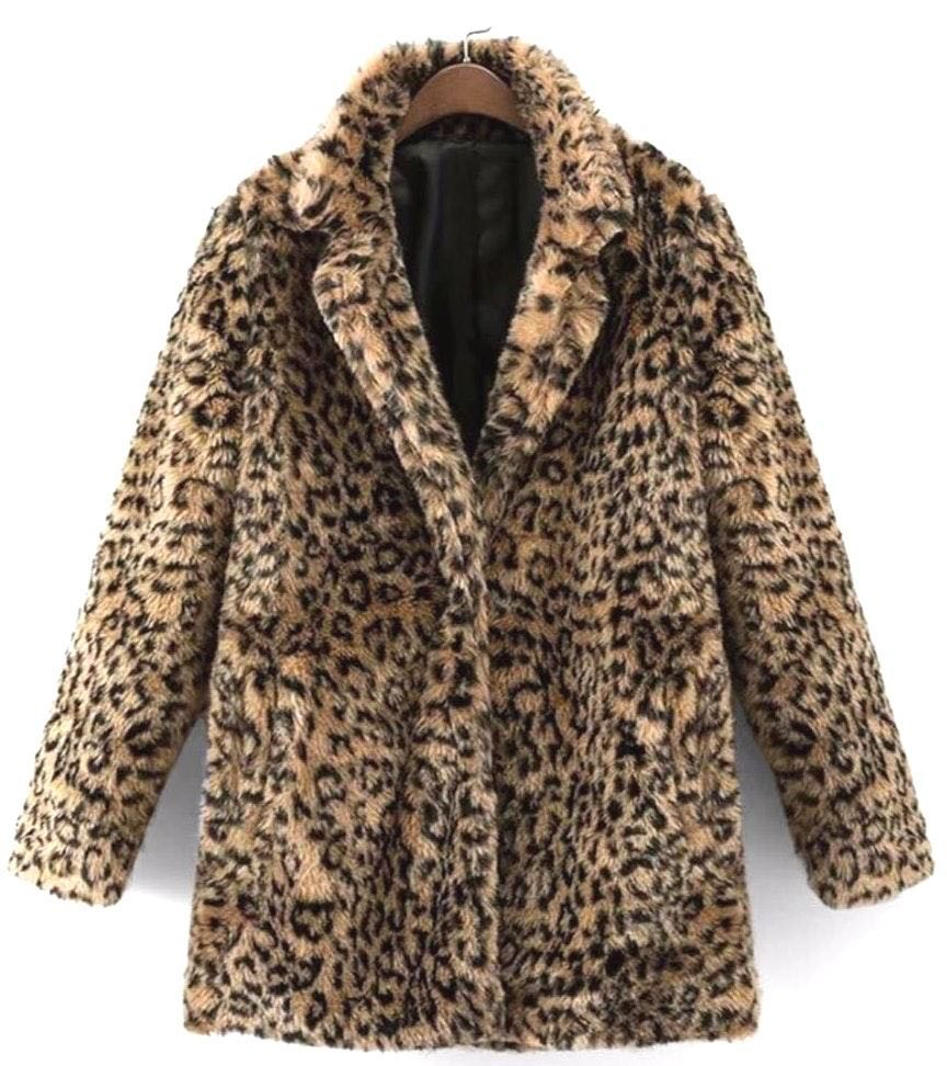 SheIn Cheetah Faux Fur Coat