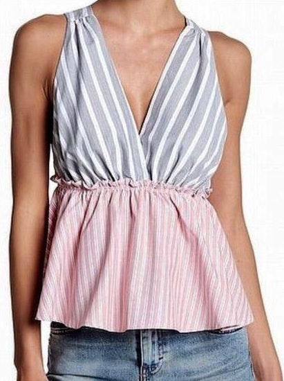 Elodie Cinched Deep V Tank Top