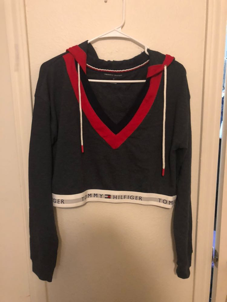 478d7030e30 We're the buy/sell app for cute clothes. Say to being bored of your  clothes. Home Tommy Hilfiger Crop Top Hoodie