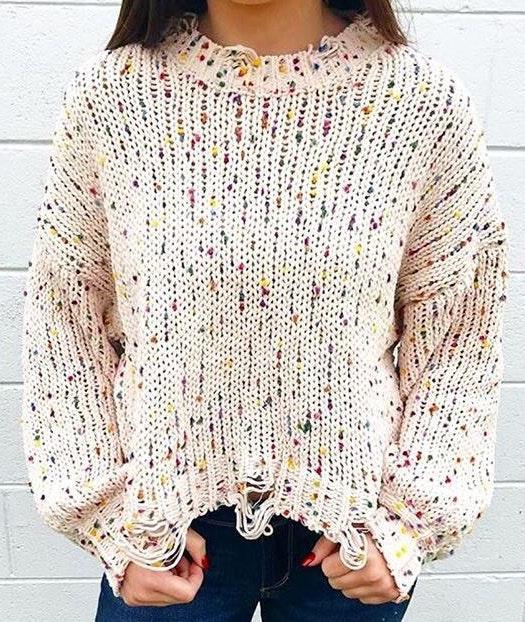 Confetti Cropped Sweater