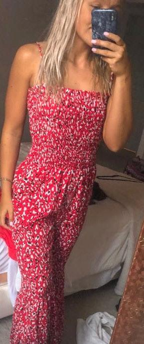 Boutique Red Cheetah Jumpsuit