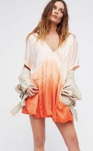 Free People Orange Ombre Dress
