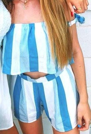 Blue Striped Set