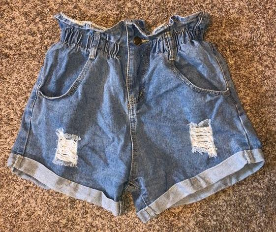 SheIn High Waisted Cinch Mom Jean Shorts