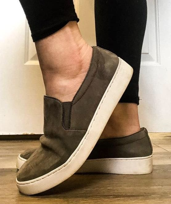 Vionic Grey Suede Shoes