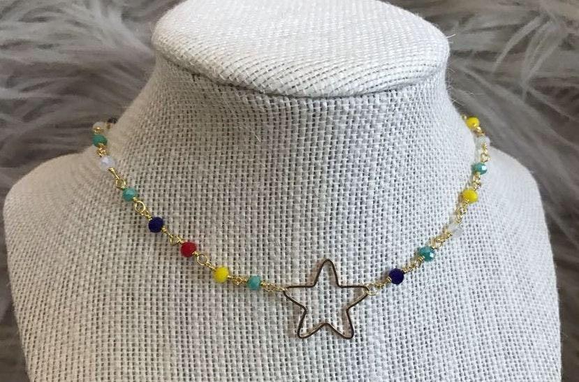 Colorful Star Choker