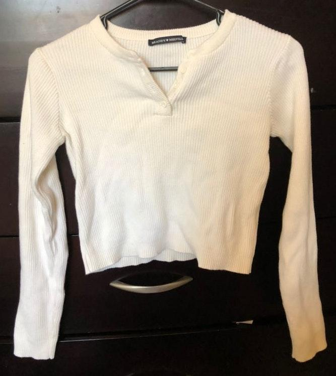 Brandy Melville Ribbed Long Sleeve