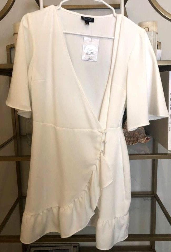 Topshop White Wrap Dress