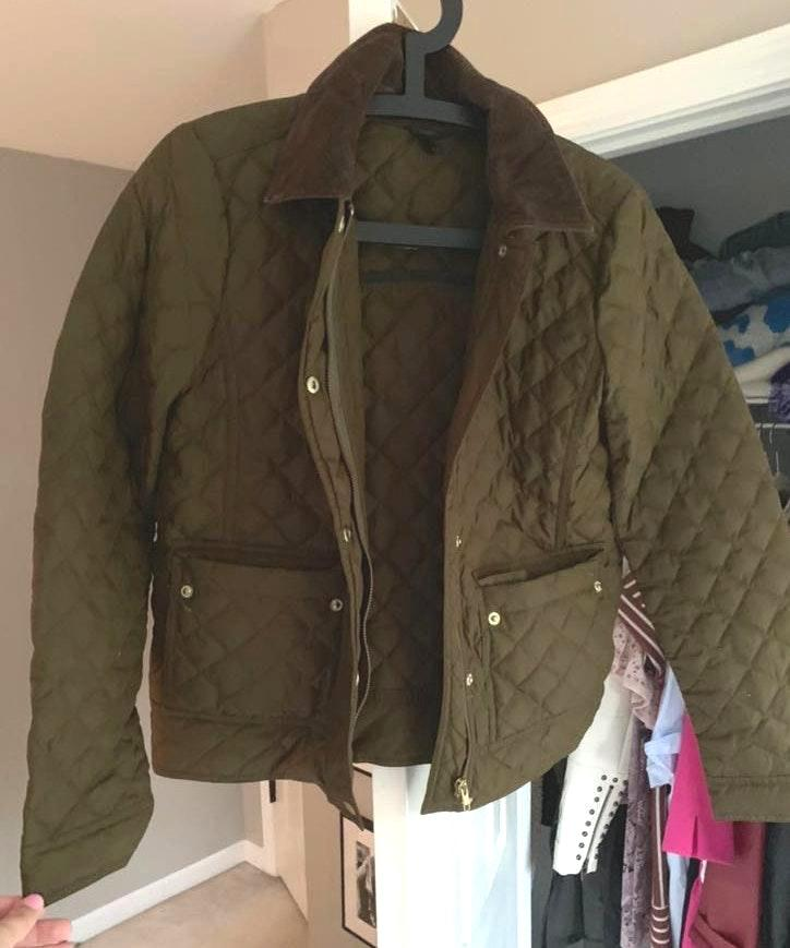 J.Crew Quilted Olive Jacket
