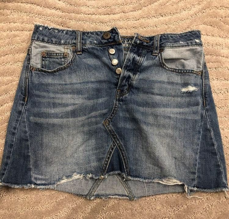 American Eagle Outfitters Denim Button-Up Skirt