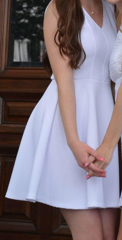 AQUA White Dress