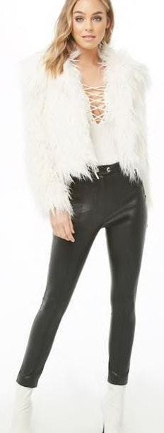 Forever 21 Shaggy Fur Coat