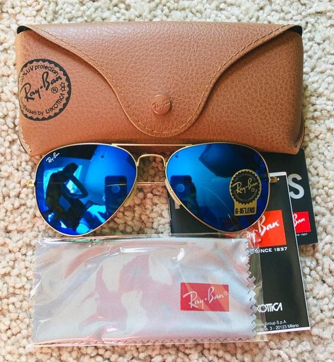 Ray-Ban New Rayban Avaitor Blue Size 55mm