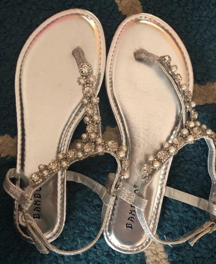 Bamboo Faux Pearl Sandals