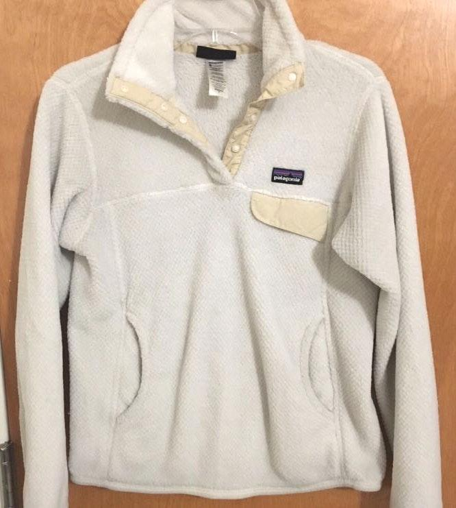 Patagonia White Re-Tool Snap Pullover