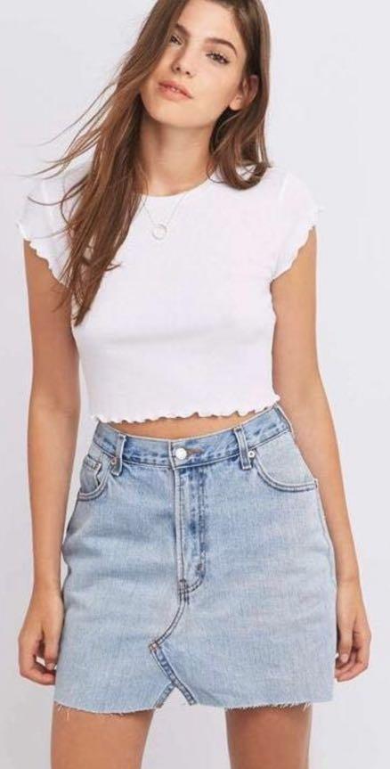 Urban Outfitters Lightwash jean skirt
