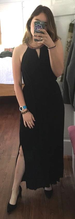 Soprano Black Maxi Dress That Ties In Back
